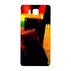 Plastic Brush Color Yellow Red Samsung Galaxy Alpha Hardshell Back Case
