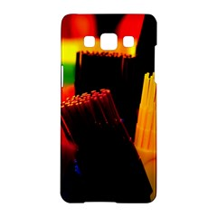 Plastic Brush Color Yellow Red Samsung Galaxy A5 Hardshell Case