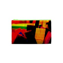 Plastic Brush Color Yellow Red Cosmetic Bag (xs)