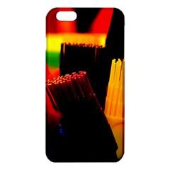 Plastic Brush Color Yellow Red Iphone 6 Plus/6s Plus Tpu Case