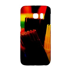 Plastic Brush Color Yellow Red Galaxy S6 Edge