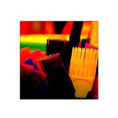 Plastic Brush Color Yellow Red Satin Bandana Scarf