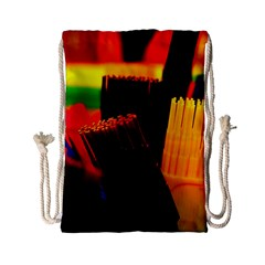 Plastic Brush Color Yellow Red Drawstring Bag (small)
