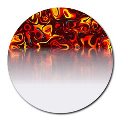 Effect Pattern Brush Red Round Mousepads