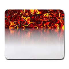 Effect Pattern Brush Red Large Mousepads