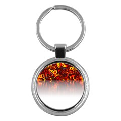 Effect Pattern Brush Red Key Chains (round)