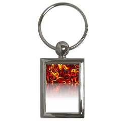 Effect Pattern Brush Red Key Chains (rectangle)