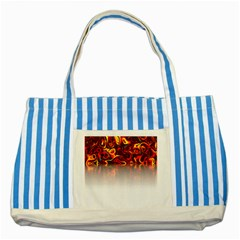 Effect Pattern Brush Red Striped Blue Tote Bag