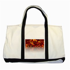 Effect Pattern Brush Red Two Tone Tote Bag