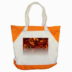 Effect Pattern Brush Red Accent Tote Bag