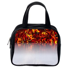 Effect Pattern Brush Red Classic Handbags (one Side)