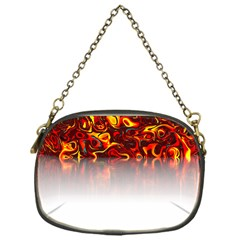 Effect Pattern Brush Red Chain Purses (one Side)
