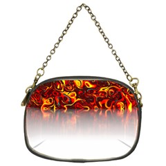 Effect Pattern Brush Red Chain Purses (two Sides)