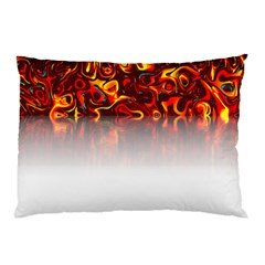 Effect Pattern Brush Red Pillow Case