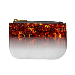 Effect Pattern Brush Red Mini Coin Purses