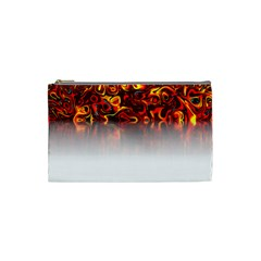 Effect Pattern Brush Red Cosmetic Bag (small)
