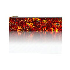 Effect Pattern Brush Red Cosmetic Bag (large)