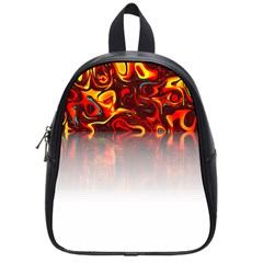 Effect Pattern Brush Red School Bags (small)