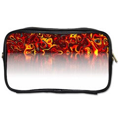 Effect Pattern Brush Red Toiletries Bags