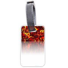 Effect Pattern Brush Red Luggage Tags (one Side)