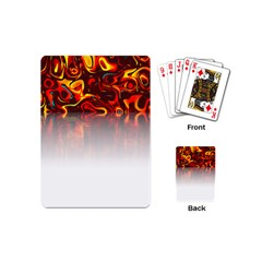 Effect Pattern Brush Red Playing Cards (mini)