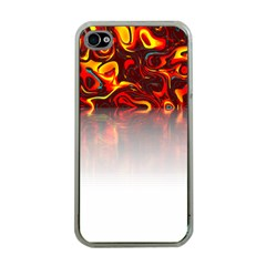 Effect Pattern Brush Red Apple Iphone 4 Case (clear)