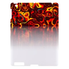 Effect Pattern Brush Red Apple Ipad 3/4 Hardshell Case