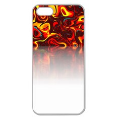 Effect Pattern Brush Red Apple Seamless Iphone 5 Case (clear)