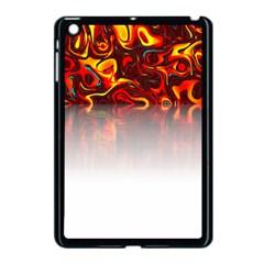 Effect Pattern Brush Red Apple Ipad Mini Case (black)