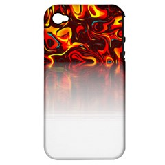 Effect Pattern Brush Red Apple Iphone 4/4s Hardshell Case (pc+silicone)