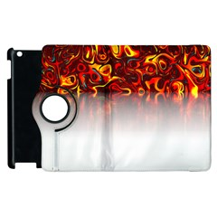 Effect Pattern Brush Red Apple Ipad 3/4 Flip 360 Case