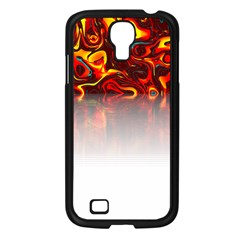Effect Pattern Brush Red Samsung Galaxy S4 I9500/ I9505 Case (black)
