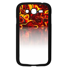 Effect Pattern Brush Red Samsung Galaxy Grand Duos I9082 Case (black)