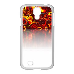 Effect Pattern Brush Red Samsung Galaxy S4 I9500/ I9505 Case (white)