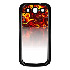 Effect Pattern Brush Red Samsung Galaxy S3 Back Case (black)