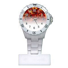 Effect Pattern Brush Red Plastic Nurses Watch