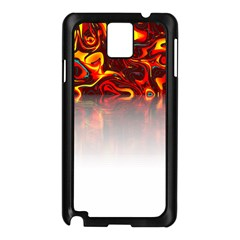 Effect Pattern Brush Red Samsung Galaxy Note 3 N9005 Case (black)