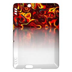 Effect Pattern Brush Red Kindle Fire Hdx Hardshell Case