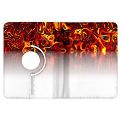 Effect Pattern Brush Red Kindle Fire Hdx Flip 360 Case