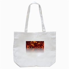 Effect Pattern Brush Red Tote Bag (white)
