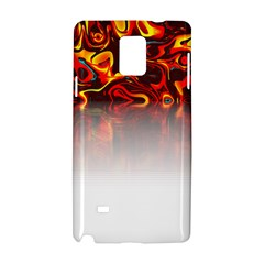 Effect Pattern Brush Red Samsung Galaxy Note 4 Hardshell Case