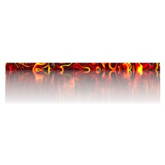 Effect Pattern Brush Red Satin Scarf (oblong)
