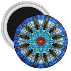 Pattern Blue Brown Background 3  Magnets