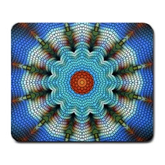 Pattern Blue Brown Background Large Mousepads