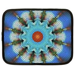 Pattern Blue Brown Background Netbook Case (large)