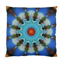 Pattern Blue Brown Background Standard Cushion Case (two Sides)