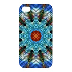 Pattern Blue Brown Background Apple Iphone 4/4s Hardshell Case