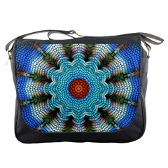 Pattern Blue Brown Background Messenger Bags
