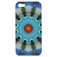 Pattern Blue Brown Background Apple Iphone 5 Hardshell Case