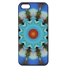 Pattern Blue Brown Background Apple Iphone 5 Seamless Case (black)